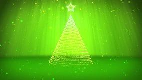 Тема зимы для предпосылки рождества или Нового Года с космосом экземпляра Конец-Вверх дерева Xmas от частиц в средний-рамке иллюстрация штока
