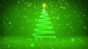 Тема зимы для предпосылки рождества или Нового Года с космосом экземпляра Конец-Вверх дерева Xmas от частиц в средний-рамке иллюстрация вектора