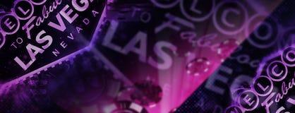 Тема знамени Лас-Вегас Стоковая Фотография RF
