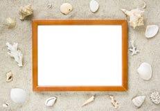 тема изображения рамки пляжа Стоковое фото RF