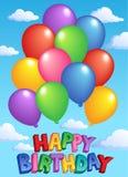 тема изображения 4 дней рождения счастливая Стоковое фото RF