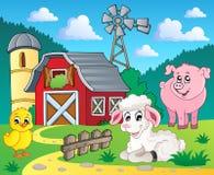 тема изображения 5 ферм Стоковые Фото