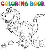 Тема 5 динозавра книжка-раскраски Стоковое Изображение