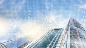 тема иллюстрации делового центра зодчества Стоковые Фото