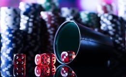 Тема казино с космосом экземпляра Стоковые Фотографии RF