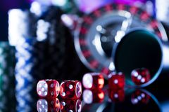 Тема казино с космосом экземпляра Стоковое фото RF