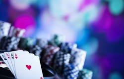 Тема казино с космосом экземпляра Стоковая Фотография RF