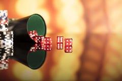 Тема казино Стоковое фото RF