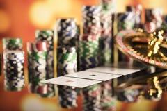 Тема казино Стоковые Изображения