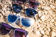 Тема каникул солнечных очков Стоковое Изображение RF