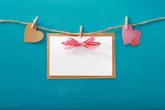 Тема карточки дня ` s валентинки Стоковые Изображения