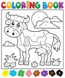 Тема 2 коровы книжка-раскраски Стоковая Фотография RF