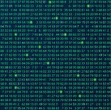 Тема кодирвоания и программирования шаблона Стоковое Изображение