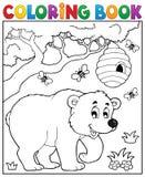 Тема 3 медведя книжка-раскраски Стоковые Изображения RF