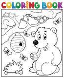 Тема 2 медведя книжка-раскраски Стоковое Изображение RF