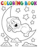 Тема 2 медведя спать книжка-раскраски бесплатная иллюстрация