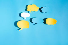 Тема обмена текстовыми сообщениями темы пузыря речи Стоковая Фотография