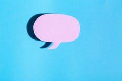 Тема обмена текстовыми сообщениями темы пузыря речи Стоковое Фото