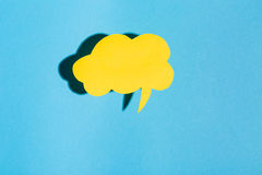 Тема обмена текстовыми сообщениями темы пузыря речи Стоковое Изображение