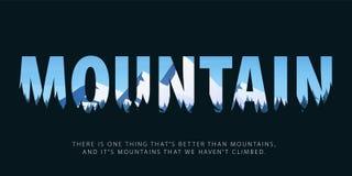 Тема одичалой природы, выживания в одичалом, охотиться, располагаясь лагерем, отключение большие горы горы ландшафта wildlife так иллюстрация штока
