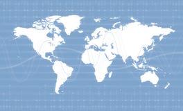 Тема предпосылки дела карты мира цифров Стоковое Фото