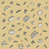 Тема предпосылки картины хлебопекарни Брайна Стоковое Изображение