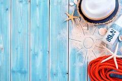 Тема предпосылки пляжа летних каникулов Стоковое Изображение