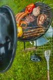 Тема приготовления на гриле весны, яркие цвета Стоковое Изображение RF