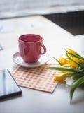 тема разрешения изображения цветка кофе высокая Стоковые Изображения RF