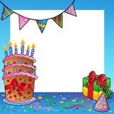 тема рамки 2 дней рождения бесплатная иллюстрация