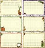 тема рецепта хлебоуборки карточек Стоковые Изображения