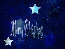 Тема рождества с текстом и звездами иллюстрация вектора