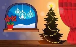 Тема 2 рождества крытая бесплатная иллюстрация