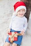 Тема рождества на пляже Стоковая Фотография RF
