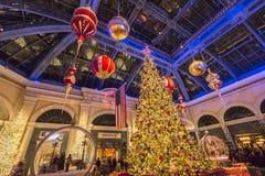 Тема рождества на Bellagio Стоковое Изображение