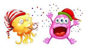 Тема рождества при изверги празднуя Стоковое Изображение RF