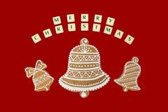 Тема рождества с желания на красной предпосылке Стоковая Фотография