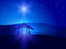 Тема рождества с звездой Стоковые Изображения RF