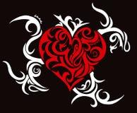 тема сердца соплеменная Стоковое Изображение