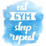 Тема спорта типографская Мотивационная и вдохновляющая иллюстрация Letteryng Хороший для логотипа, дизайна футболки, знамени Стоковое фото RF
