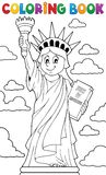 Тема 1 статуи свободы книжка-раскраски Стоковые Фотографии RF