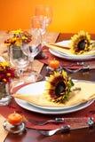 тема таблицы падения обеда установленная Стоковое Изображение RF