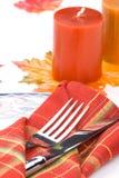 тема таблицы settin падения обеда стоковое изображение