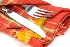 тема таблицы settin падения обеда Стоковые Изображения