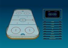 Тема хоккея на льде Стоковая Фотография RF