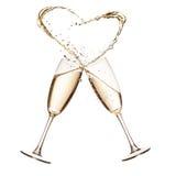 тема шампанского торжества предпосылки золотистая Стоковые Изображения
