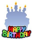 тема 2 дней рождения счастливая иллюстрация штока