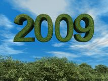 тема 2009 eco зеленая Стоковые Фото
