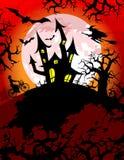 тема halloween пугающая Иллюстрация вектора