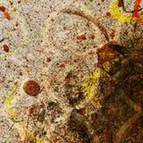 Тема Splater краски штофа Grunge Стоковая Фотография